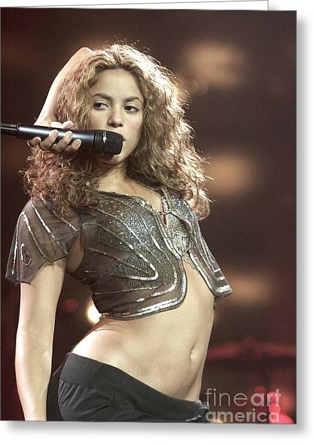 Shakira Greeting Card by Concert Photos