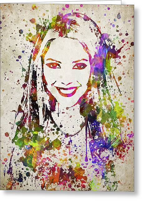 Shakira Greeting Cards - Shakira in Color Greeting Card by Aged Pixel