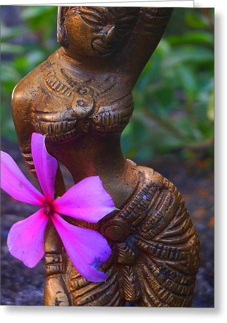 Shakti Reflects Greeting Card by Sherry Dooley