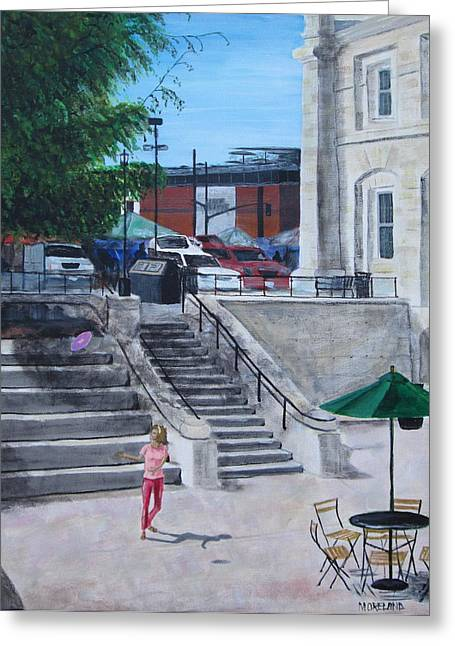 Kingston City Hall Greeting Cards - Shalaghs Playground Greeting Card by Laura Moreland