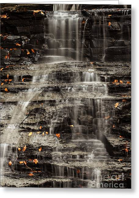 Environemtn Greeting Cards - Shale Waterfalls Cascade Greeting Card by Darleen Stry