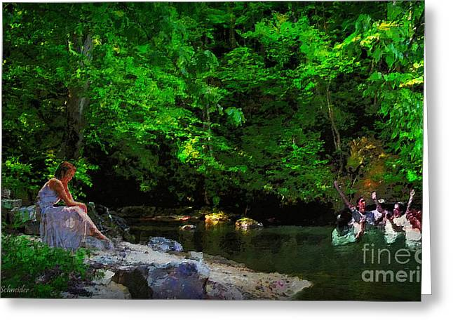 Lianne Schneider Fine Art Print Greeting Cards - Shall We Gather At the River Greeting Card by Lianne Schneider
