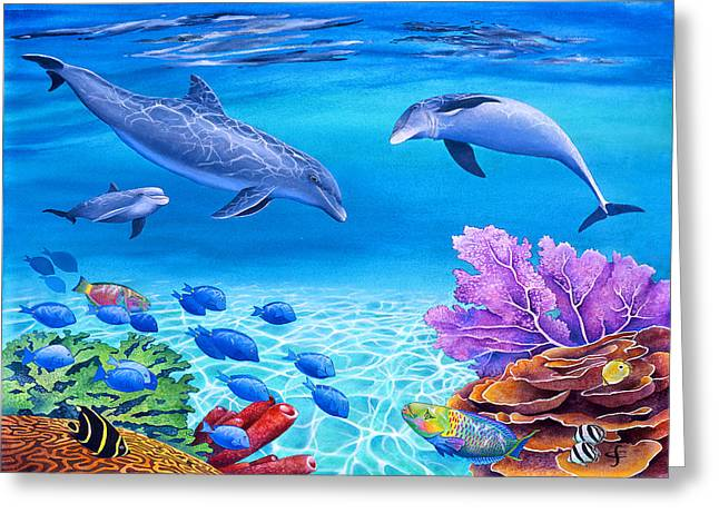 Exotic Fish Greeting Cards - Shallow Behaviour Greeting Card by Carolyn Steele
