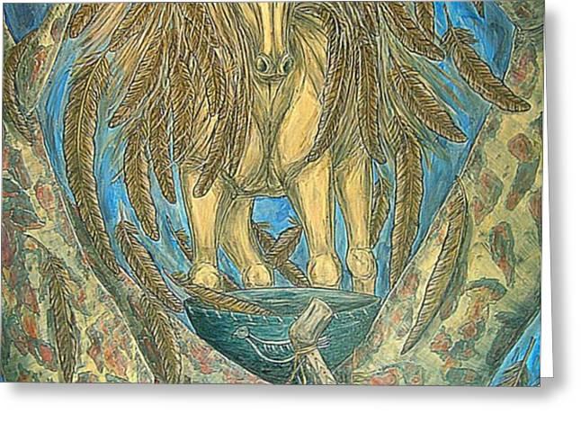 Shaman Spirit Greeting Card by Kim Jones