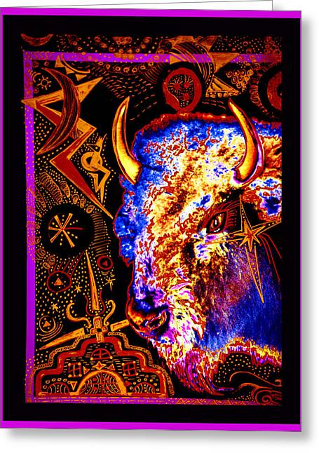 Ascension Mixed Media Greeting Cards - Shamanic Cosmos Greeting Card by Susanne Still