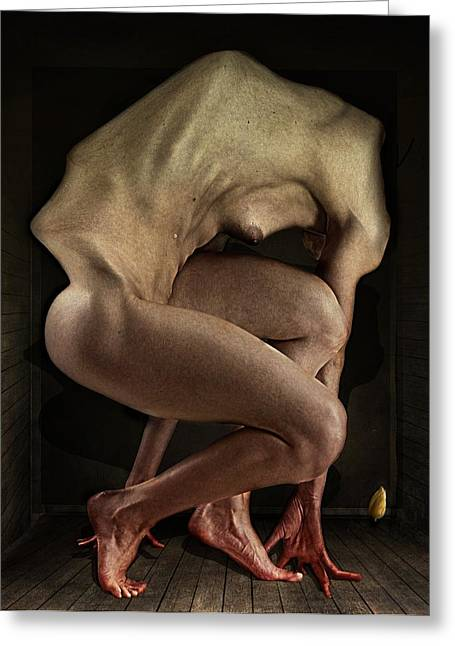 Abnormal Greeting Cards - Shame Greeting Card by Johan Lilja