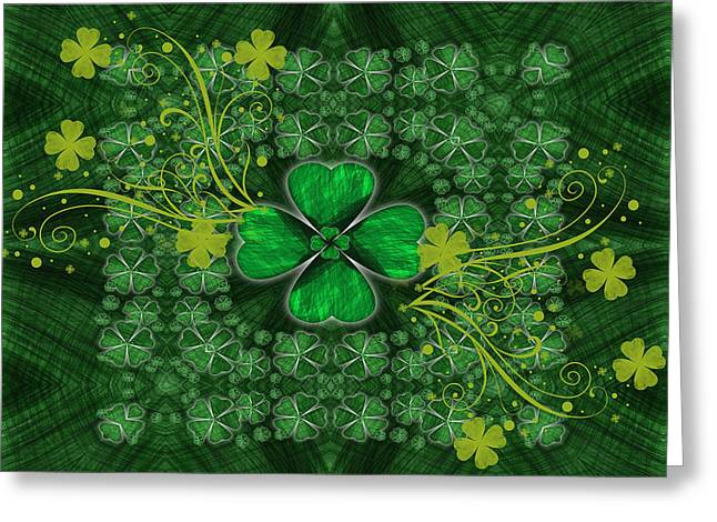 Digipho333 Studio Greeting Cards - Shamrock Glory Greeting Card by Shannon Story