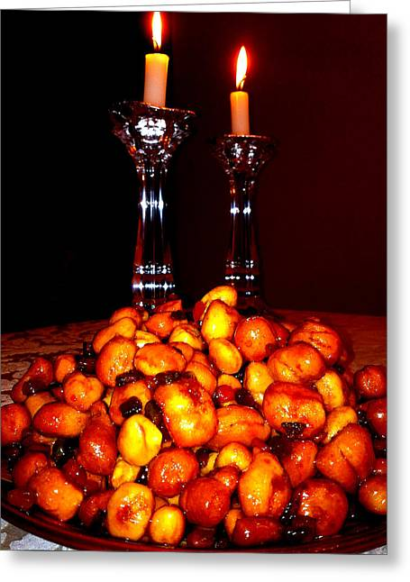 Candle Lit Greeting Cards - Shana Tova Greeting Card by Vadim Levin