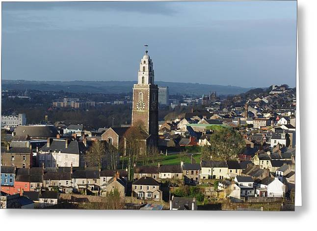 Bells Of Ireland Greeting Cards - Shandon Bells tower in Cork City Greeting Card by Patrick Dinneen
