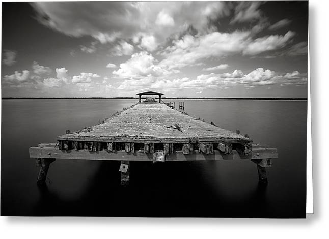 Jacksonville Pyrography Greeting Cards - Shands Pier Greeting Card by Craig Hill