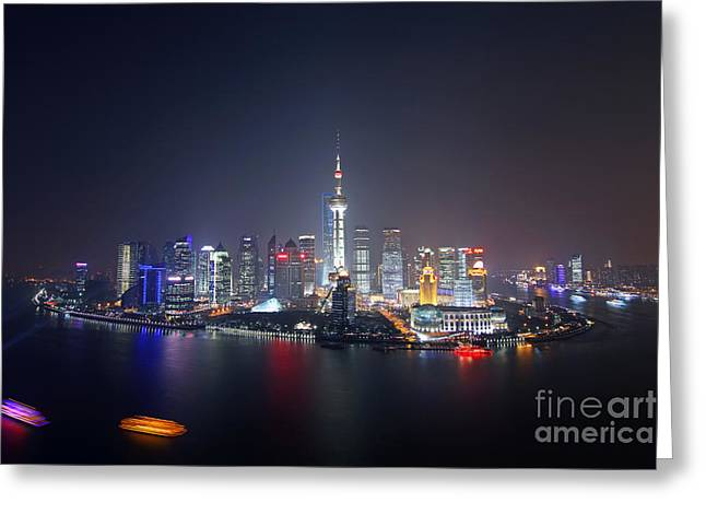 Pudong Greeting Cards - Shanghai Greeting Card by Lars Ruecker