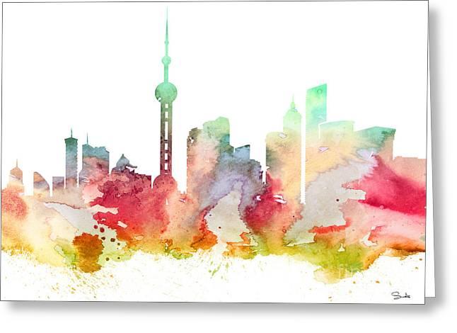 Shanghai Greeting Card by Luke and Slavi
