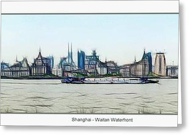 Waitan Greeting Cards - Shanghai Waitan Waterfront Greeting Card by Maciej Froncisz