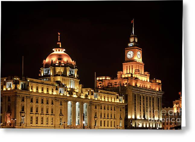 Bund Greeting Cards - Shanghais Bund Area Greeting Card by John Shaw