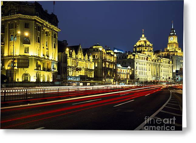Bund Shanghai Greeting Cards - Shanghais European-style Buildings Greeting Card by Rafael Macia