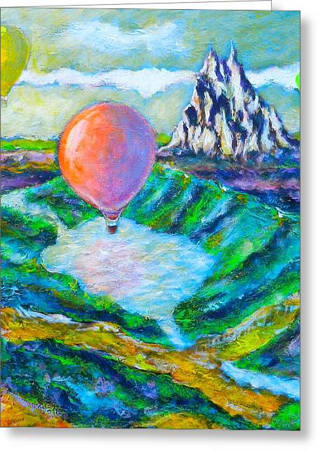 Shangrila Discovered By Montgolfiers Greeting Card by Ion vincent DAnu