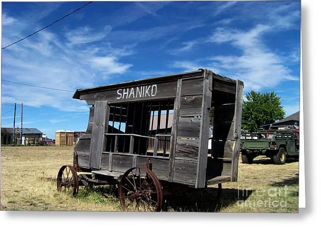 Shaniko Paddy Wagon Greeting Card by Charles Robinson