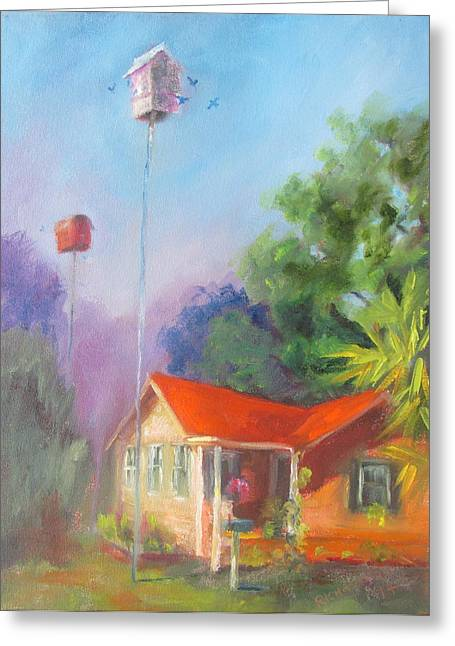 Shannons Cottage Greeting Card by Susan Richardson