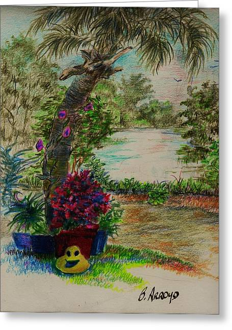 Shannon's  Garden Greeting Card by Beth Arroyo