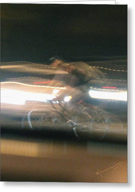 Double Bicycle Greeting Cards - Shape Shifter Greeting Card by Kume Bryant