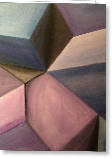 Geometric Effect Paintings Greeting Cards - Shape Shifting Greeting Card by D August