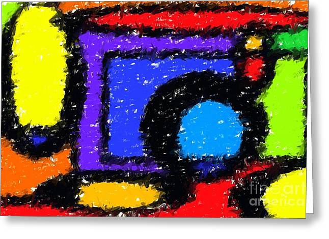 Colourful Greeting Cards - Shapes 1 Greeting Card by Chris Butler
