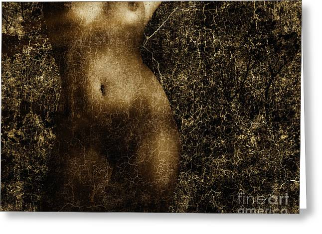 Woman Torso Photograph Greeting Cards - Shapes and Shadows Greeting Card by Edmund Nagele