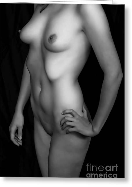Woman Torso Photograph Greeting Cards - Shapes by a Woman Greeting Card by Michael Adams