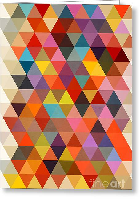 Surreal Geometric Greeting Cards - Shapes Greeting Card by Mark Ashkenazi