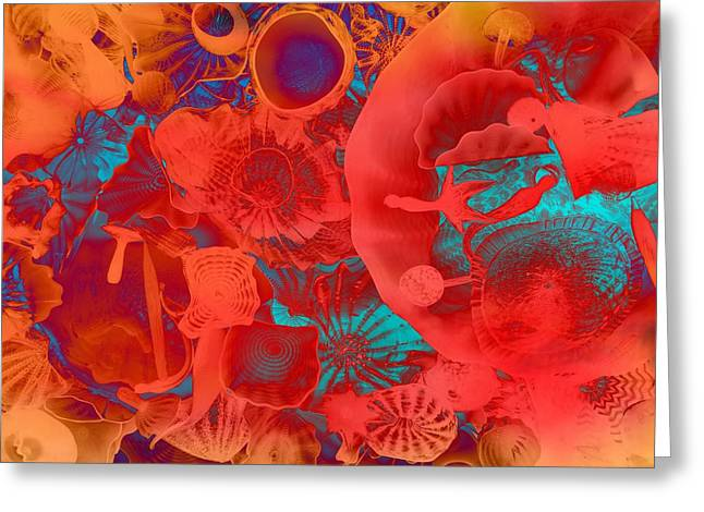 Shapes Sizes Colors Greeting Card by Dan Sproul