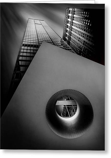 Shade Photographs Greeting Cards - Shaping The Skyline Greeting Card by Az Jackson