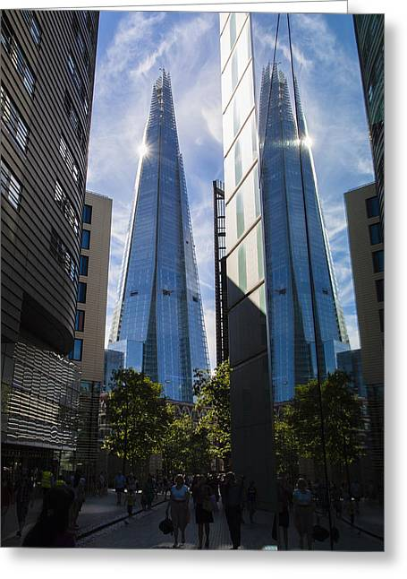 Record Breaker Greeting Cards - Shard London Greeting Card by Matthew Bruce