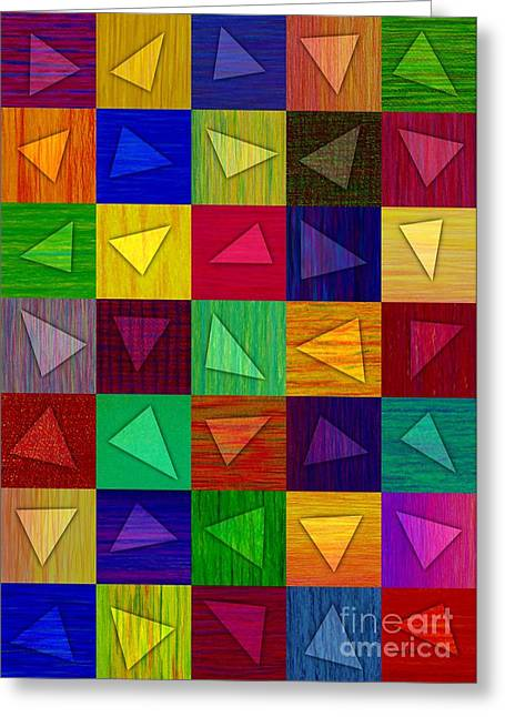 Colored Pencil Abstract Greeting Cards - Shards Greeting Card by David K Small