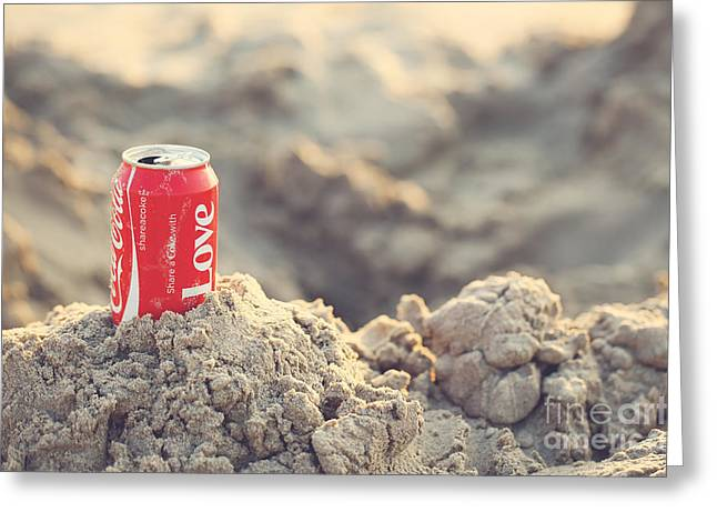 Coca Cola.coke-a-cola Greeting Cards - Share a coke with love Greeting Card by LHJB Photography