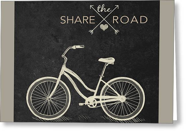 Share The Road Greeting Card by South Social Studio