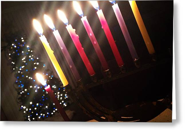 Chanukkah Greeting Cards - Shared Holidays Greeting Card by Alyson Innes