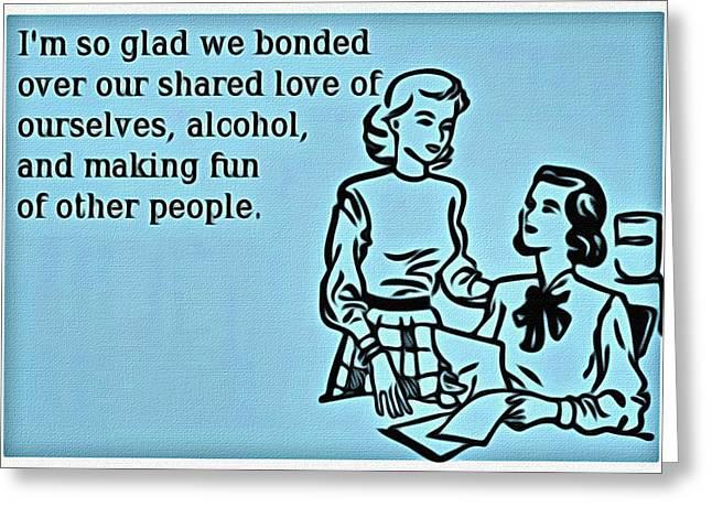 Bonding Greeting Cards - Shared Love Bonding Greeting Card by Florian Rodarte