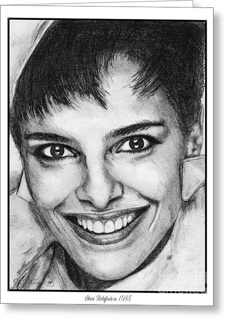 Fame Drawings Greeting Cards - Shari Belafonte in 1985 Greeting Card by J McCombie
