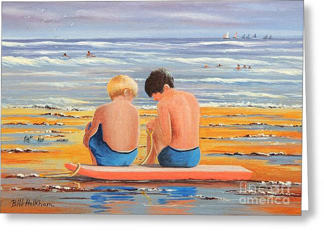Sharing Is Caring Greeting Card by Bill Holkham