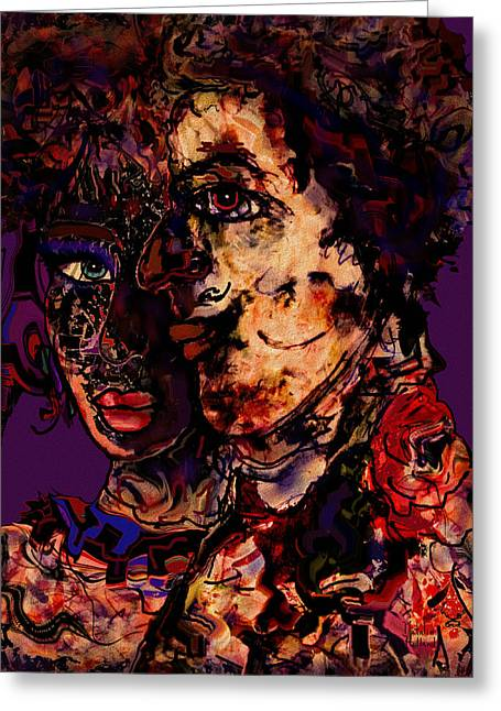 Face Tattoo Mixed Media Greeting Cards - Sharing the Journey Greeting Card by Natalie Holland