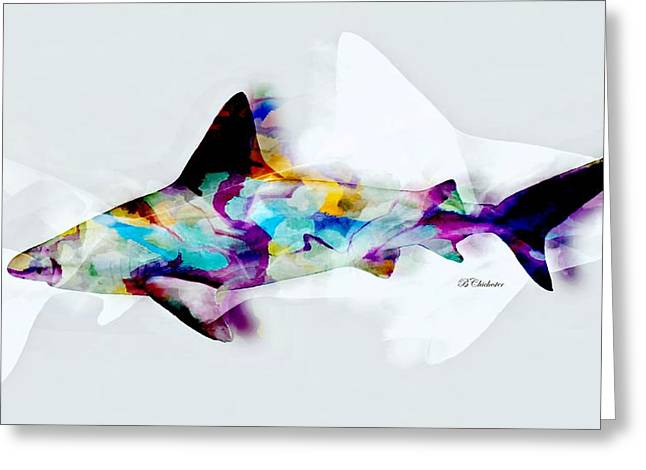 Sea Animals Greeting Cards - Shark Art II Greeting Card by Barbara Chichester