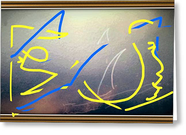 Yellow Sailboats Digital Art Greeting Cards - Shark Bait #4 Greeting Card by Mark Tubolino