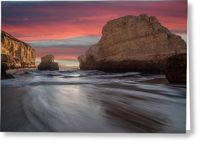 Pescadero Greeting Cards - Shark Fin Cove Greeting Card by About Light  Images