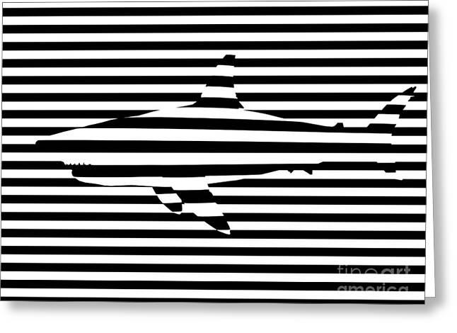 Shark optical illusion Greeting Card by Pixel Chimp