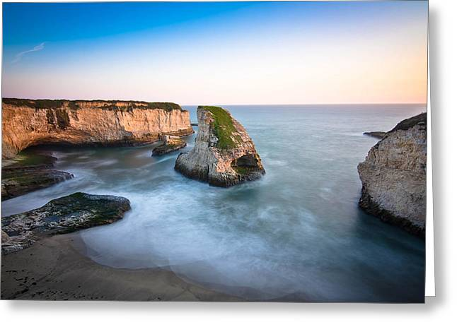Sharks Cove Greeting Cards - Shark Fin Cove  Greeting Card by Justin Matoi