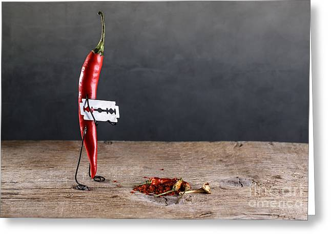 Paprika Greeting Cards - Sharp Chili Greeting Card by Nailia Schwarz