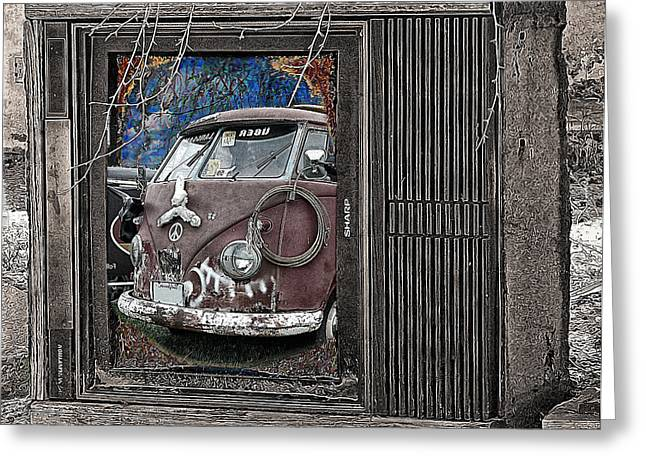 Old Tv Greeting Cards - Sharp Greeting Card by Ron Regalado