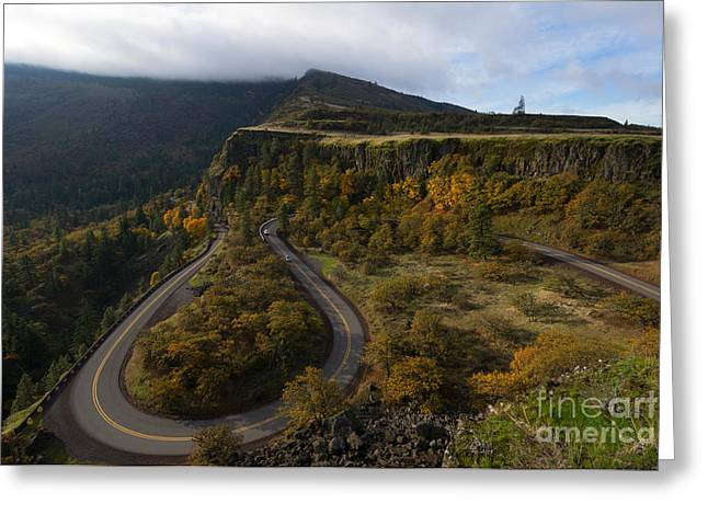 Highway Greeting Cards - Sharp Turns Greeting Card by Mike Dawson