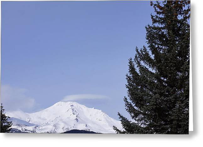 Mt. Shasta Greeting Cards - Shasta Mountain Scenic Photography Art Greeting Card by Baslee Troutman