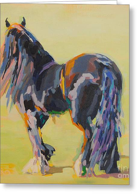 Gypsy Vanner Horse Greeting Cards - Shasta Solomon Greeting Card by Kimberly Santini